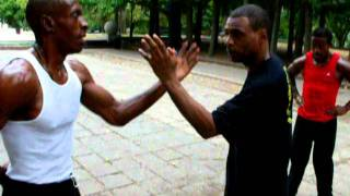 RahJah and Jermaine one arm-cross arm chi sao/lop sao