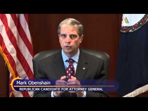 Mark Obenshain, Candidate for Attorney General, Answers Question on challenging and defending a law