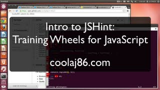 Intro to JSHint - Training Wheels for JavaScript (being that it