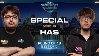 SpeCial vs Has TvP - Round of 16 - WCS Fall 2019 - StarCraft II