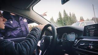 ДПС и новая BMW 7-ка, застрял в поле, Москва после Калифорнии