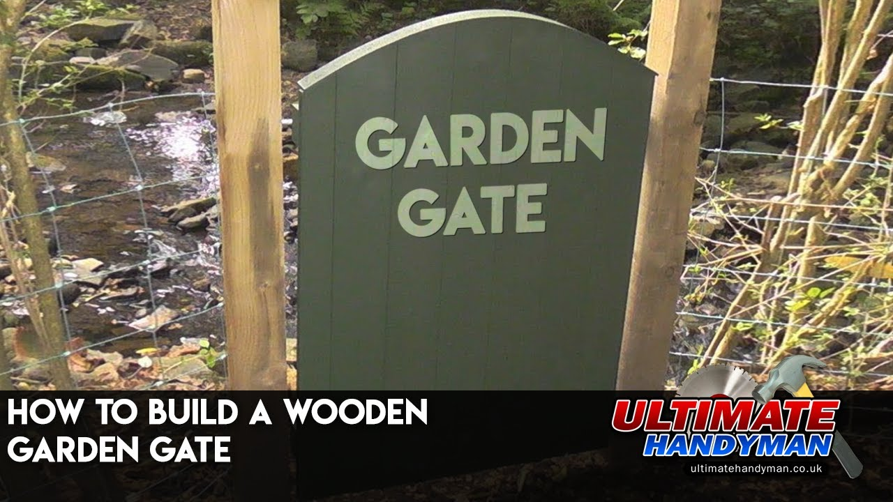 How to build a wooden garden gate YouTube