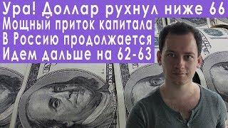 Смотреть видео Доллар падает на 62 Газпром растет прогноз курса доллара евро рубля валюты РТС ММВБ на февраль 2019 онлайн