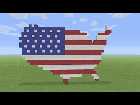 Minecraft Pixel Art - USA Flag Map