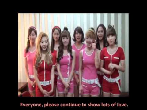 [ENG SUB] SNSD Congratulatory Message to Taeyeon and The One's Like A Star
