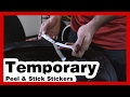 Tire Stickers: How To Install Temporary Tire Letters