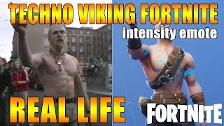 techno viking fortnite intensity emote REAL LIFE