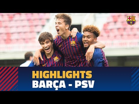 [HIGHLIGHTS] YOUTH LEAGUE: FC Barcelona - PSV Eindhoven (2-1) thumbnail