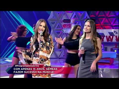 Júlia & Rafaella cantam o sucesso Paredes Pintadas no Programa da Sabrina