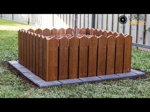 DIY outdoor planter with garden edging
