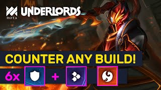 COUNTER ANY BUILD! Unbeatable Warriors + Scaled Combo?! | Dota Underlords