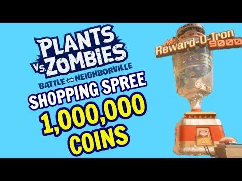 1 Million Coin Shopping Spree | Plants vs  Zombies: Battle For Neighborville