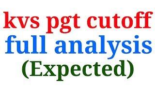 Kvs pgt cutoff analysis| kvs pgt result 2018|tcf |The Constructivist Facilitator