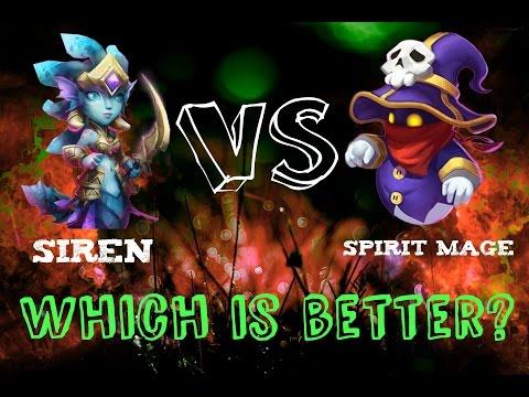 Castle Clash - Siren Vs Spirit Mage; An In Depth Comparrison