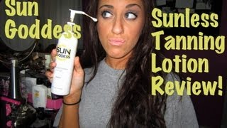 Sun Goddess Sunless Tanning Lotion: HONEST Review