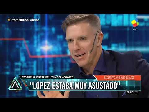 Stornelli, sobre los Cuadernogate: López estaba muy asustado