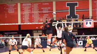 Illini Volleyball   Lipscomb Highlights