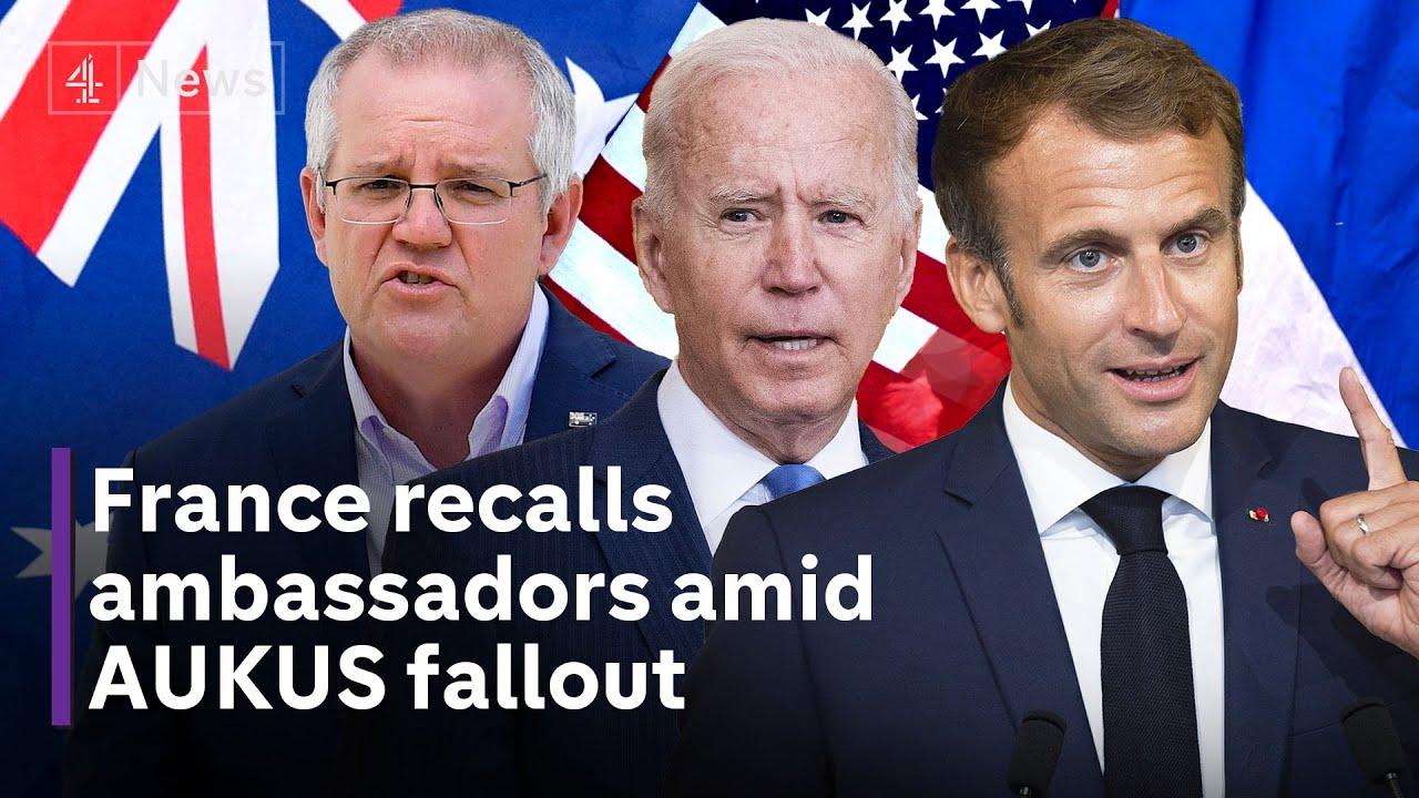 Download AUKUS: France recalls ambassadors in Australia and US amid submarine pact row