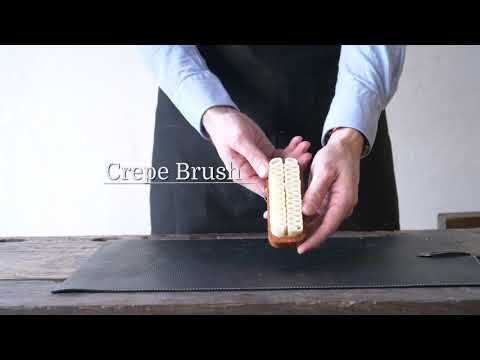 How to use a crêpe brush to clean suede shoes