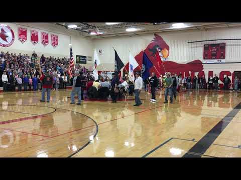 2018 Healthy Living Pow Wow Grand Entry at Crandon High School
