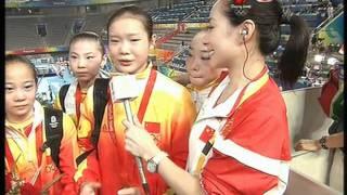 08北京奧運 女子體操團體決賽 訪問 2008-08-13
