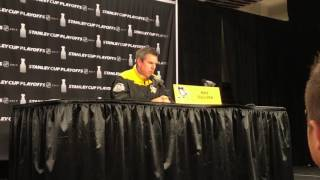 Mike Sullivan before Game 7 on Hornqvist, Schultz availability