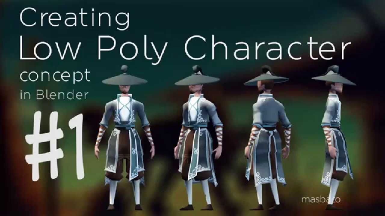 Low Poly Character Modeling Blender : Blender character concept low poly speed modeling