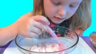Слайм из нескольких клеев , шампуня и тетробоната натрия. Diy Slime. Видео для детей. Video for kids