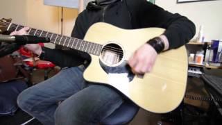 takamine eg340c lh left-handed acoustic guitar demo/test