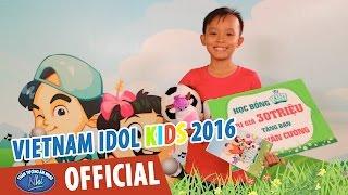 vietnam idol kids - than tuong am nhac nhi 2016 - ho van cuong nhan hoc bong tu kun