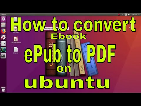 How To Convert Epub Book To Pdf On Ubuntu Linux And Linux Mint.