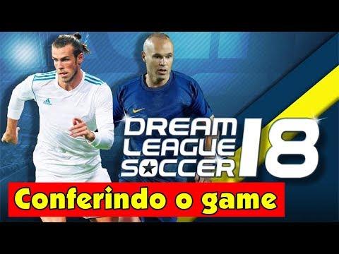 Dream League Soccer 2018 para Android - Gameplay Português BR  - jogos de futebol Android