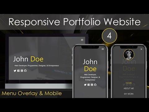 Responsive Portfolio Website [4] - Menu Overlay & Responsiveness