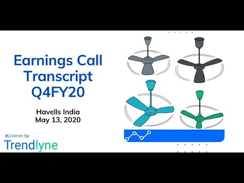 Havells India Earnings Call For Q4FY20 And Full Year