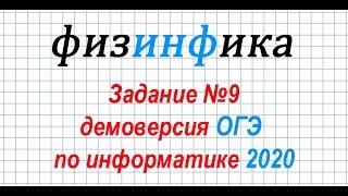 Информатика ОГЭ 2020. Решение задания 9 ОГЭ по информатике 2020