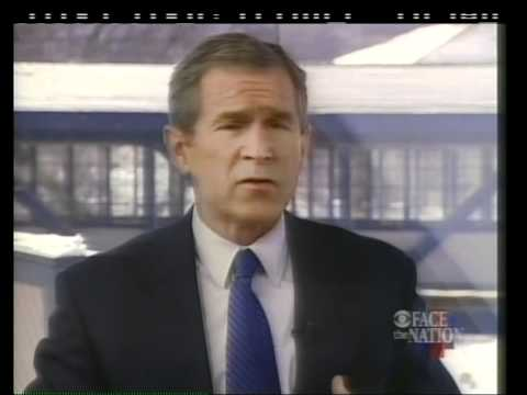 Gov. George W. Bush before the 2000 NH primary on Face the Nation