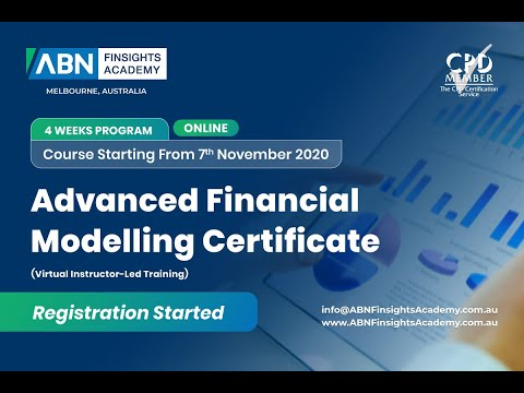 Advanced Financial Modelling Online Certificate Program - Australia