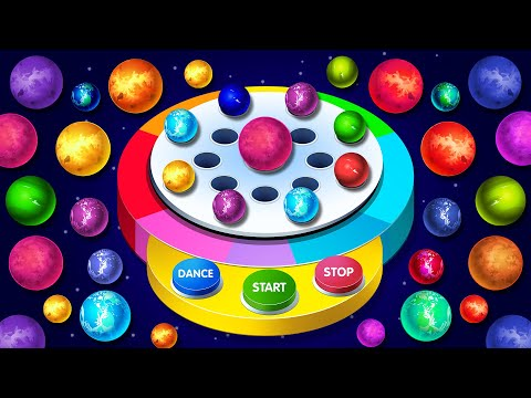 KidsCamp - Space Balls Dancing Machine Game on Finger Family