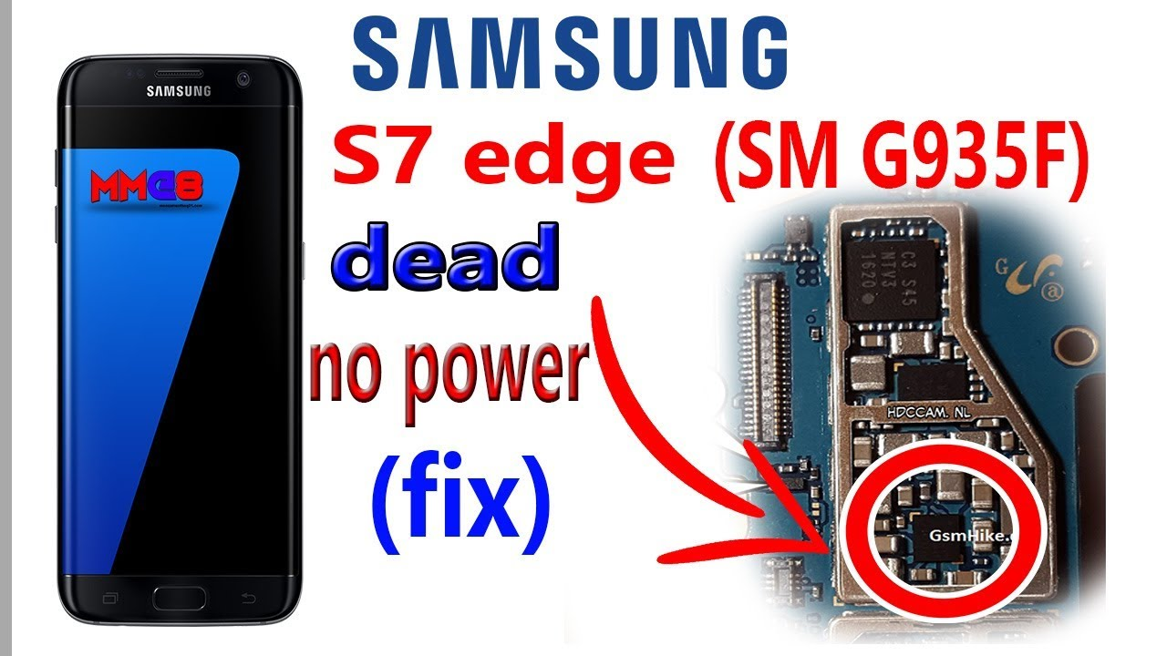 Samsung S7 edge (sm-g935f) dead fix (motherboard repair) mm@8