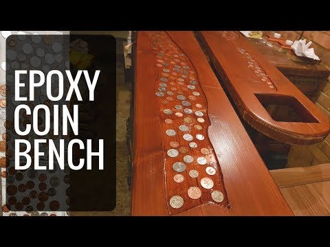DIY EPOXY Coin Bench