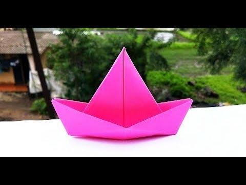 Origami Boat - Time Lapse || Easy Paper Boat || DIY