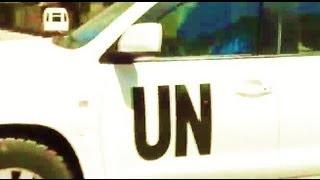 Сирия. Дамаск специалисты ООН прибыли в медпункт Замалки. 28 августа 2013.