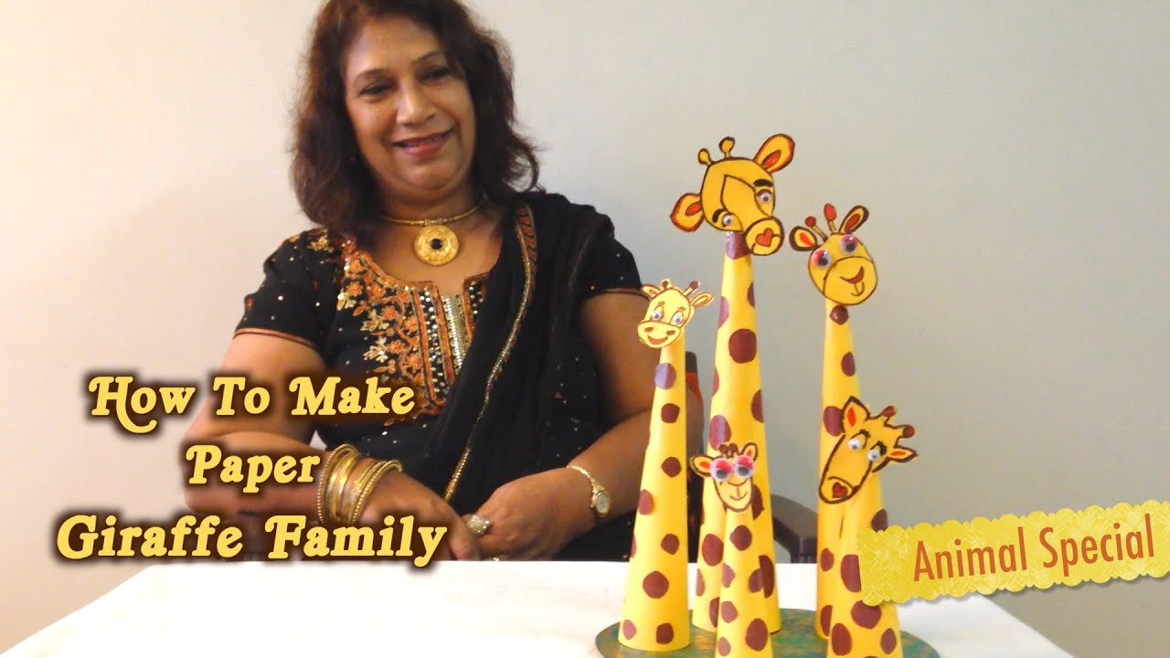 How To Make Paper Giraffe Family Animal Special Youtube