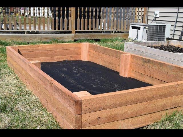 How To Make A Raised Garden Bed, Diy Cedar Raised Garden Planter