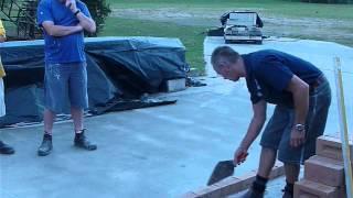 Laying Bricks and using a Spirit Level