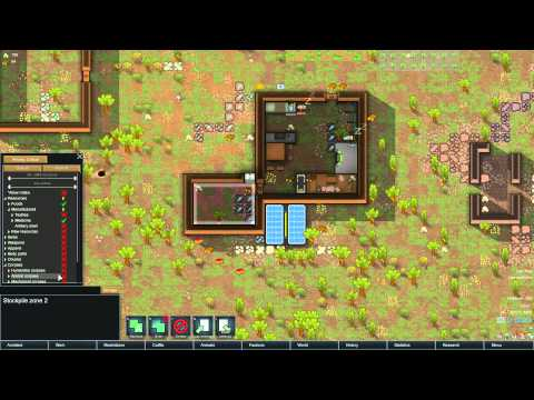 Rimworld - Alpha 12 - Ep2 - Starting An Animal Farm