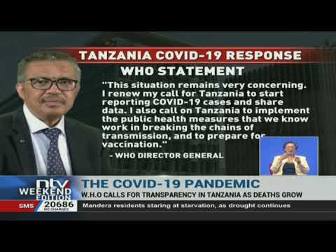 WHO calls for transparency in Tanzania as deaths rise