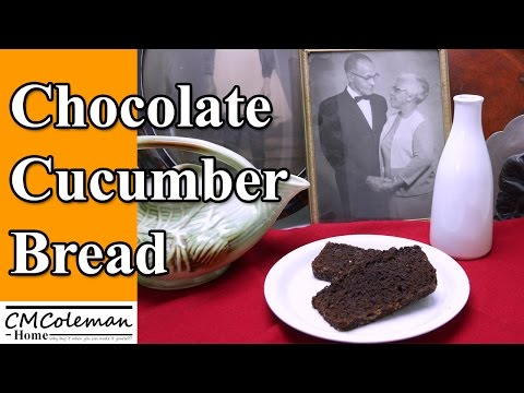 Chocolate Cucumber Quick Bread Recipe