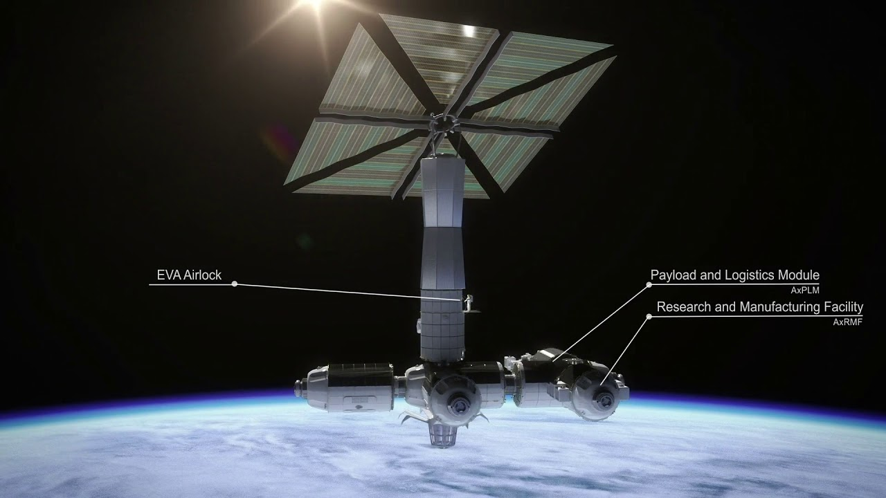 Axiom Space First Tourist Space Station - YouTube