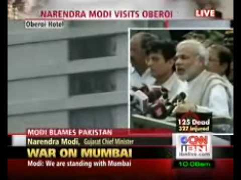 Narendra Modi speaks on Mumbai Terror attack
